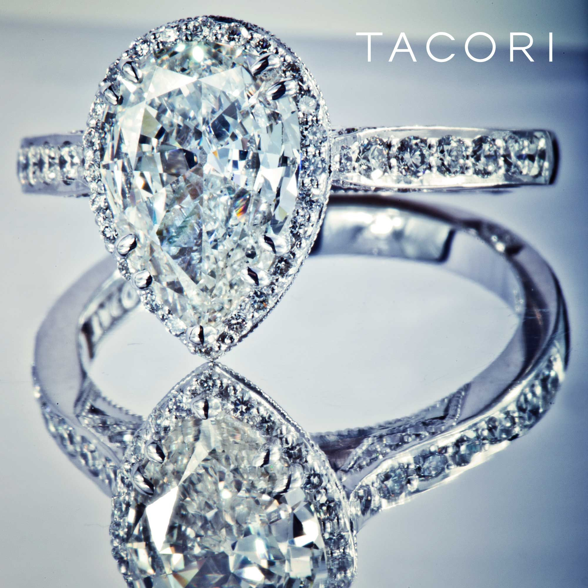 tacori wedding ring Perhaps the most beautiful pear shaped diamond engagement ring ever Tacori engagement rings at DK Gems tacori store in st maarten