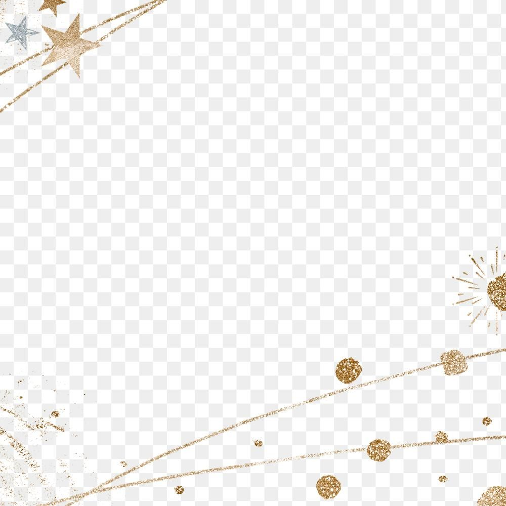 Download Premium Png Of Glittery Festive Star Border Png Transparent Border Glittery Png