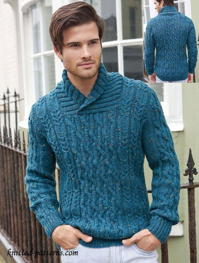 Mens cable jumper knitting pattern free cables ...