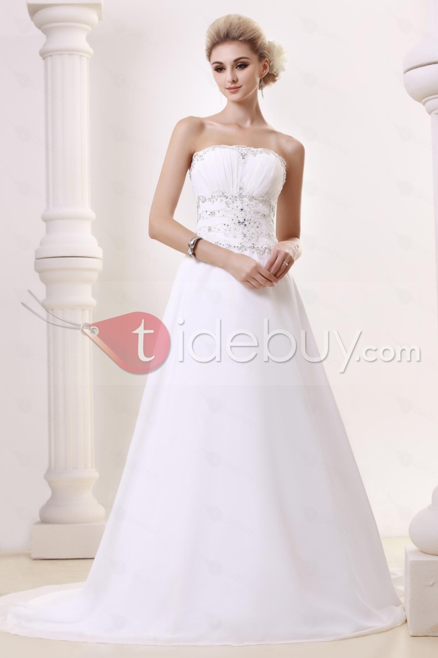 Beautiful A-line/Princess Strapless Chapel Dasha's Bridal ...