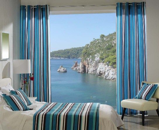 Cortinas para una decoraci n de playa cortinas en 2019 for Cortinas para departamentos pequenos