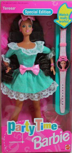 Party-Time-Teresa-Barbie-1994-NRFB-Mint-w-LN-box-12244