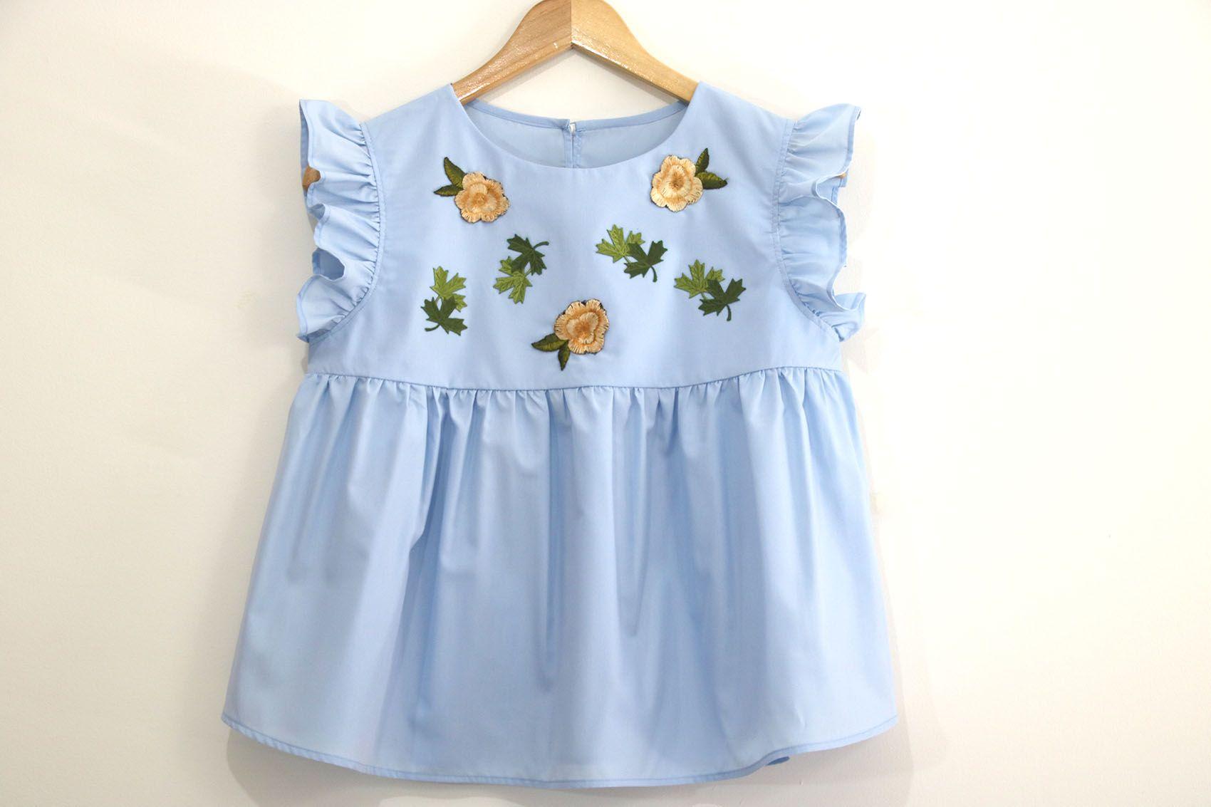 1293e703a Costura de ropa para mujer  Blusa bordada (patrones gratis)