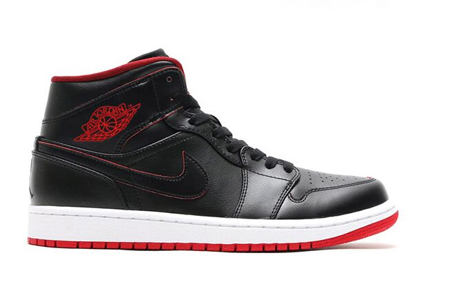 hot sale online 96798 c6842 Air Jordan 1 Mid Lance Mountain Color  Black Black-White-Gym Red Style  Code  554724-028