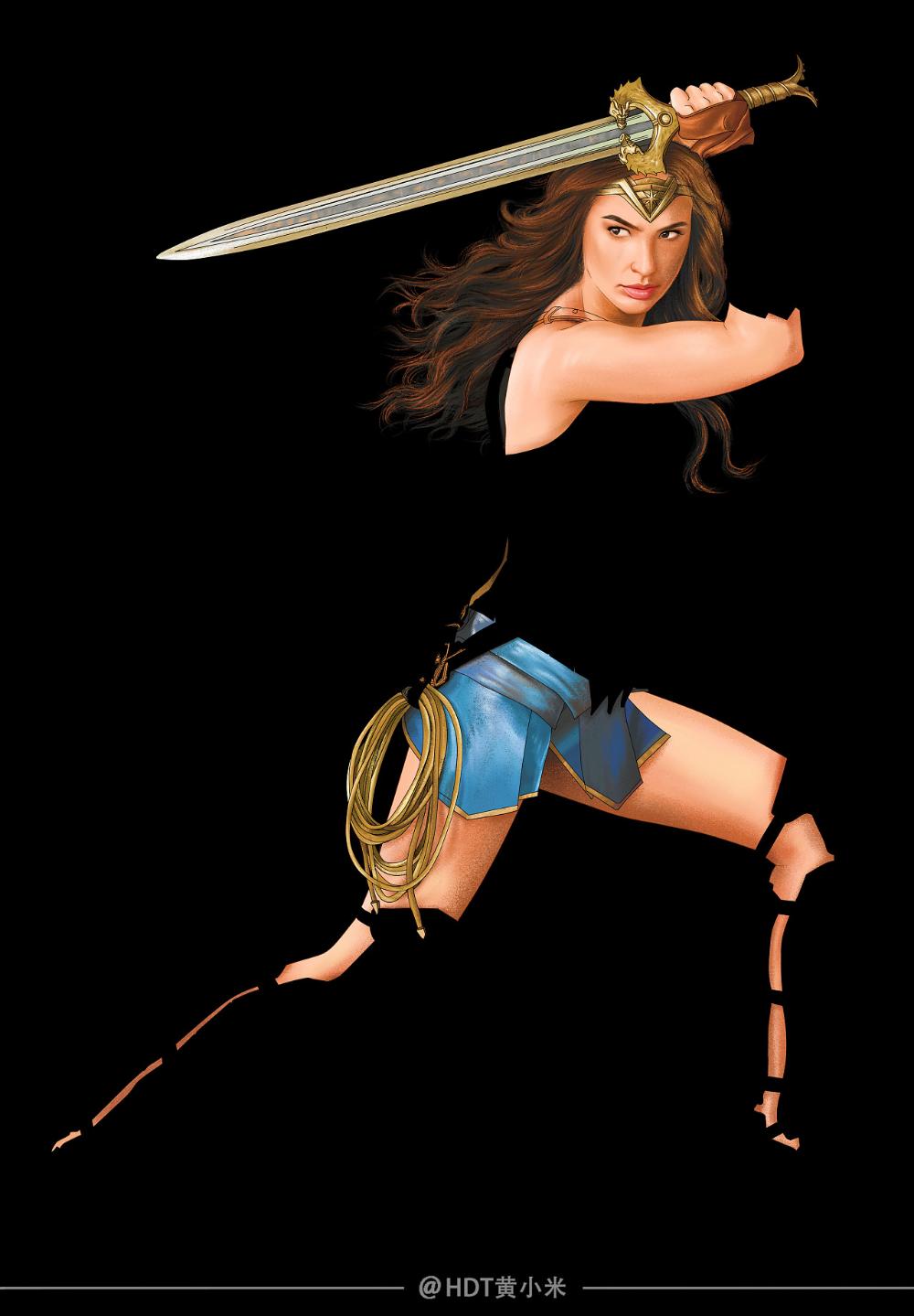 Wonder Woman Illustration Woman Illustration Wonder Woman Women