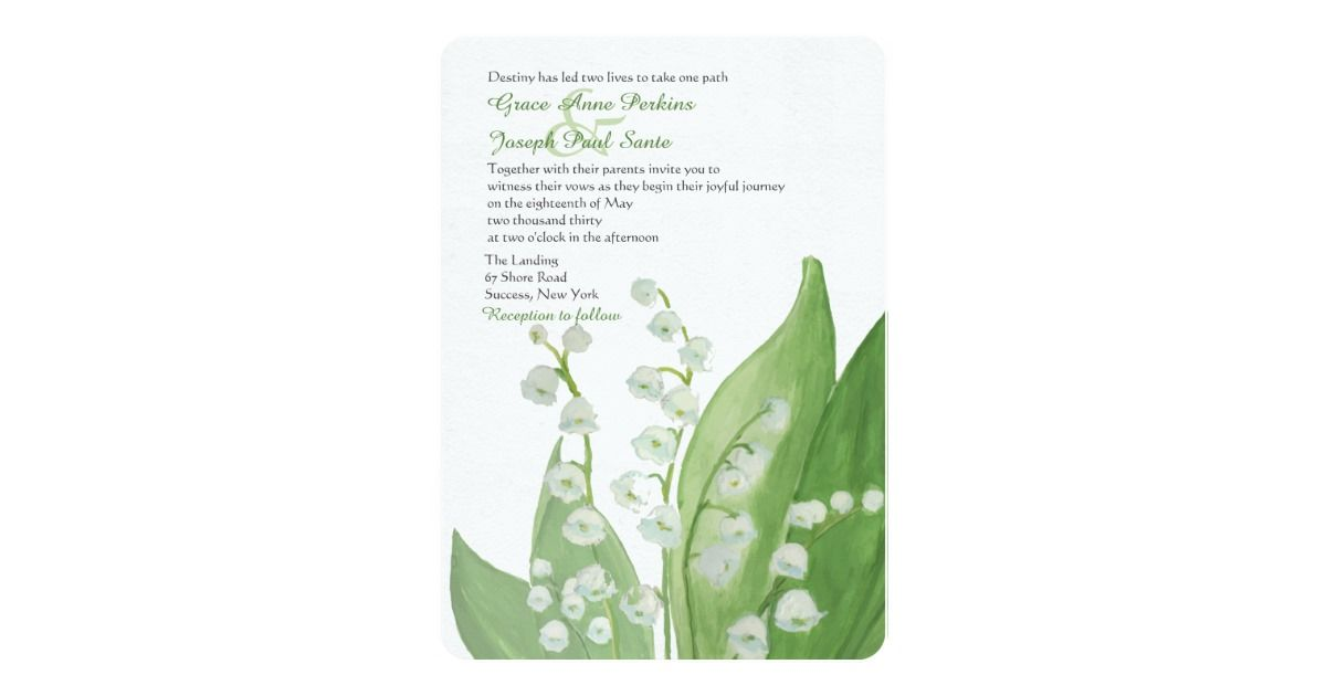 Lily of the Valley Wedding Invitation | Free vector backgrounds ...