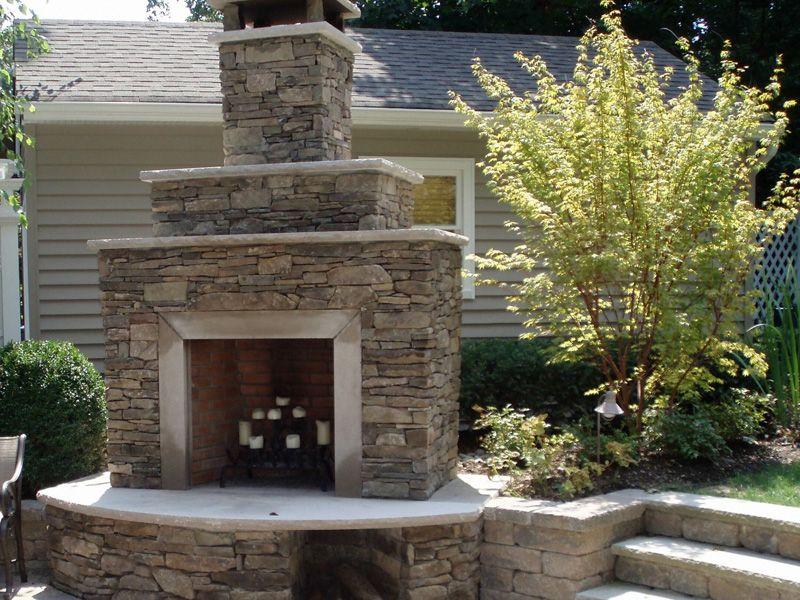 Fireplace Idea Outdoor Fireplace Fireplace Backyard Patio