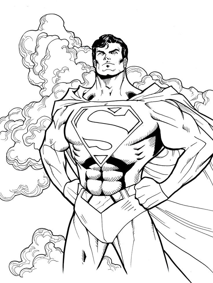 Superman With His Love Adult Superman Coloring Pages