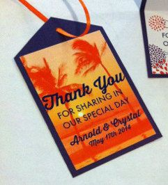 Destination Wedding Thank You Tags by SKcraft on Etsy, $0.75