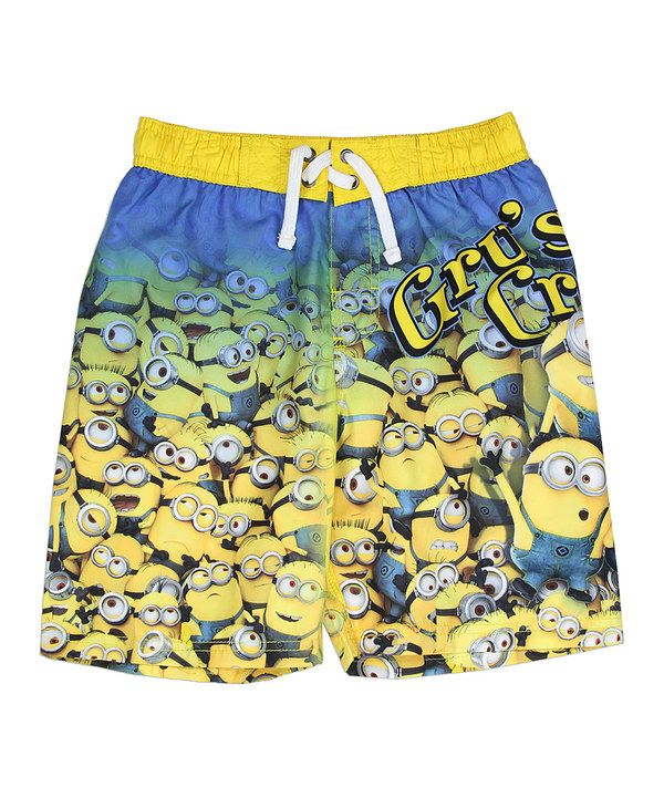 79c9315ae7 Look at this Yellow Minion Swim Shorts - Boys on #zulily today ...