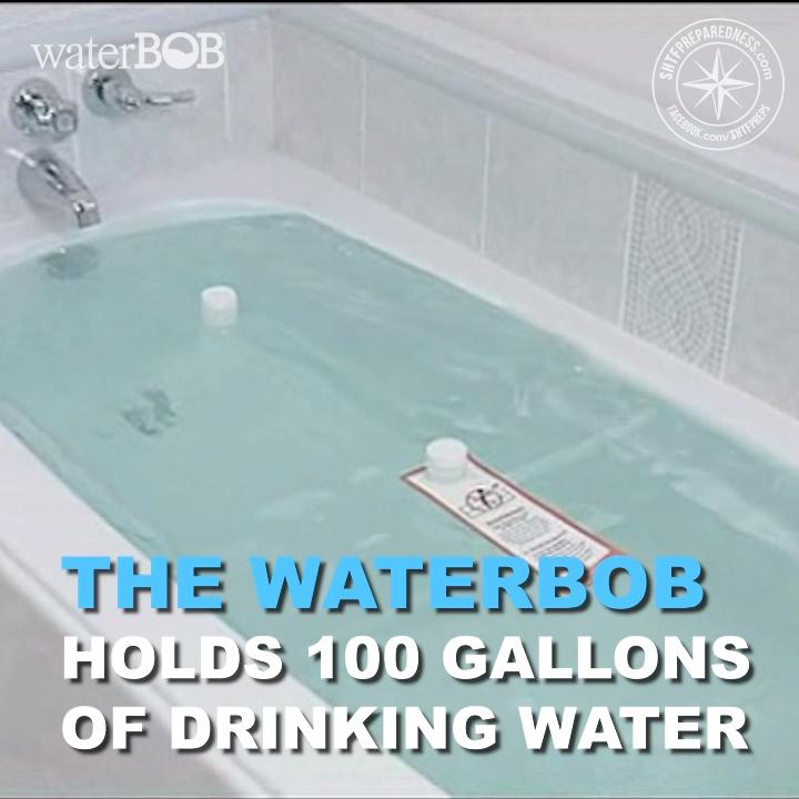 Waterbob Bathtub Emergency Water Storage Video Emergency Water Emergency Prepardness Emergency Preparedness Kit