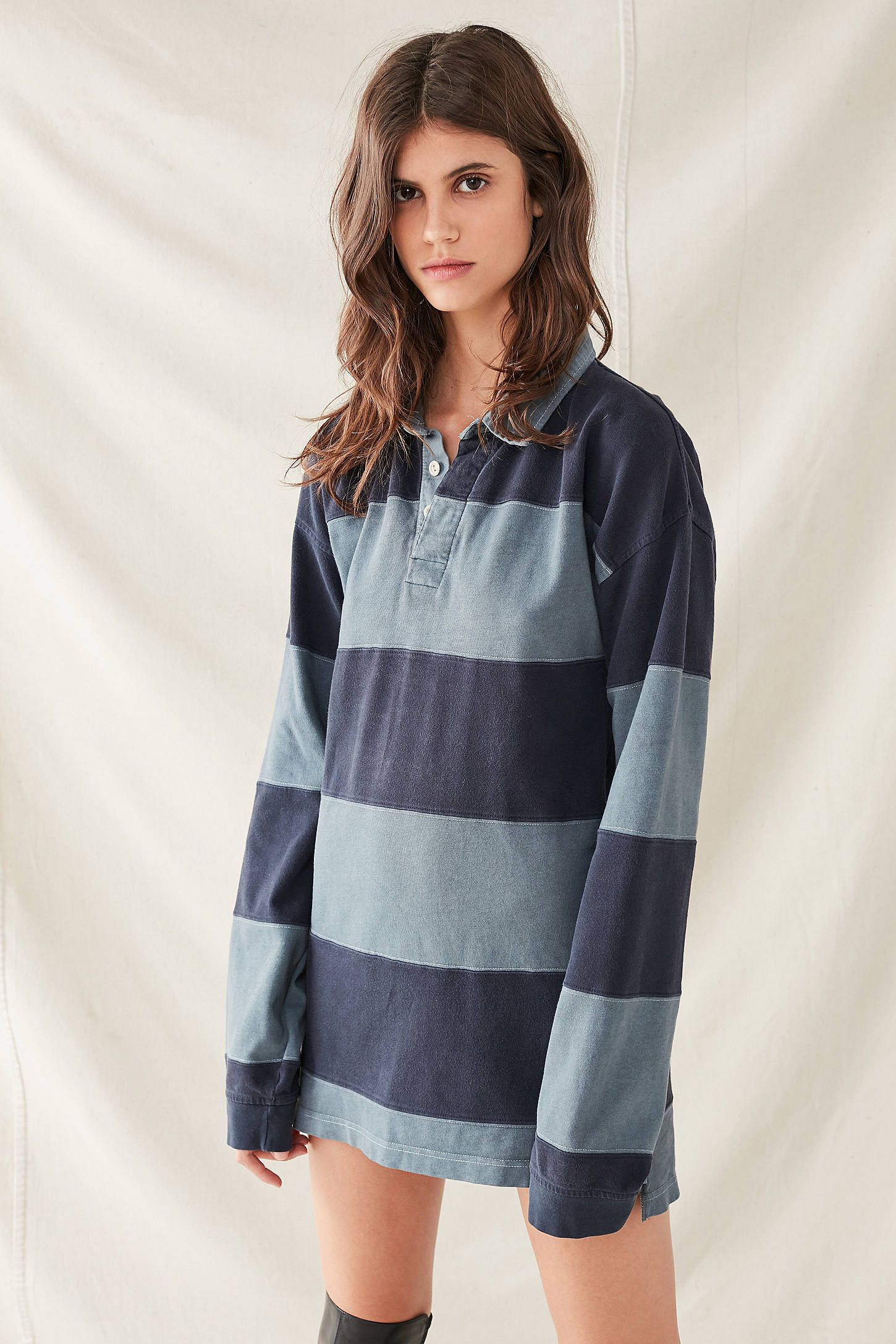Urban Renewal Remade Overdyed Rugby Shirt Dress My Style Shirt