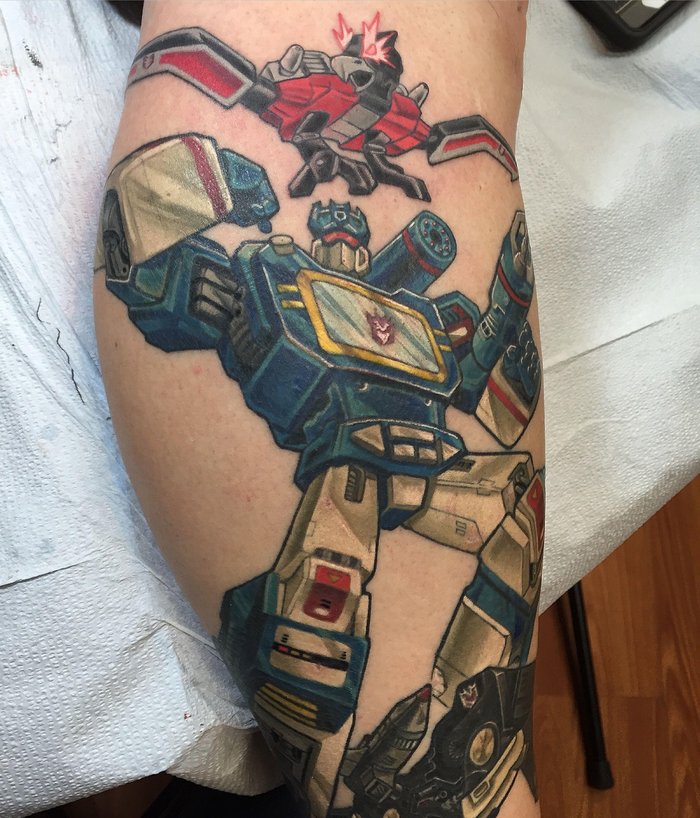 Transformers Tattoo Soundwave By Veronica Dey Www Veronicadeytattoo Com