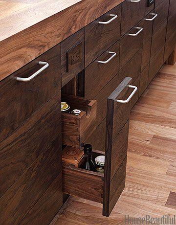 A Dark and Handsome Modern Wood Kitchen