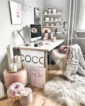 Arbeitszimmer Buro Tumblr Zimmer Einrichtung Schreibtisch