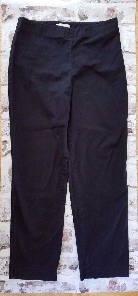 19f766a3 Talbots Black Classic Stretch Pants Womens Sz 8 Side Zipper Pencil Leg  #Talbots #CasualPants