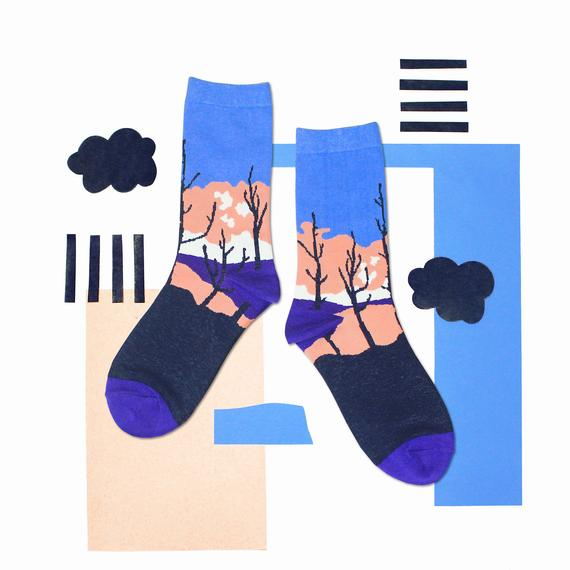 5af381df6 Sunset Blue Unisex Crew Socks | mens socks | womens socks | colorful fun &  comfortable