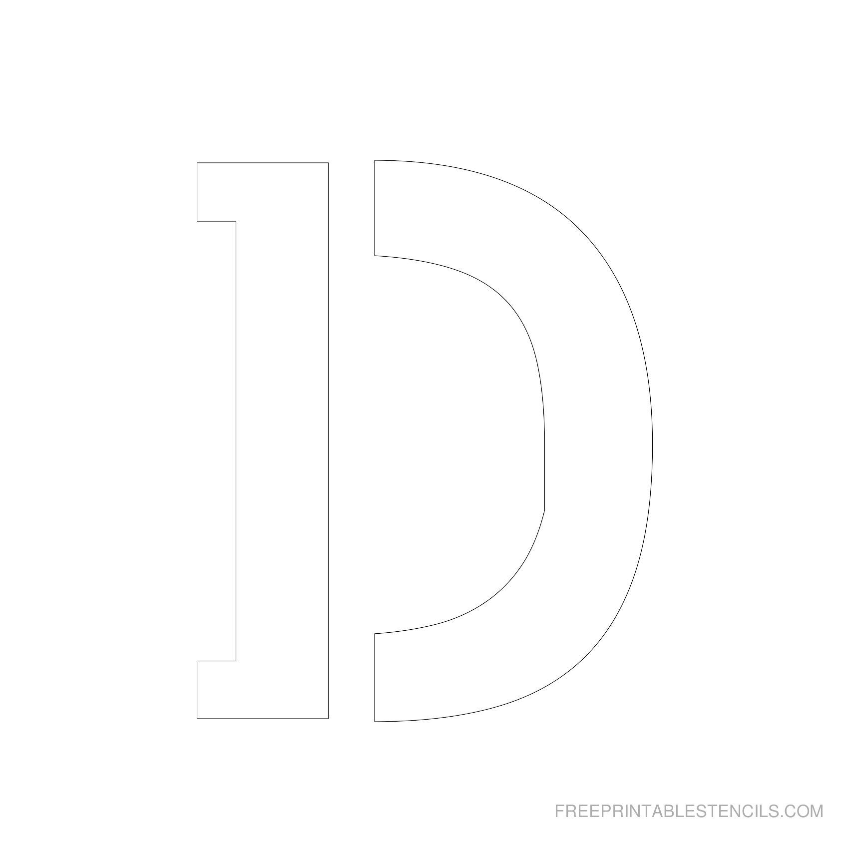printable 5 inch letter stencils
