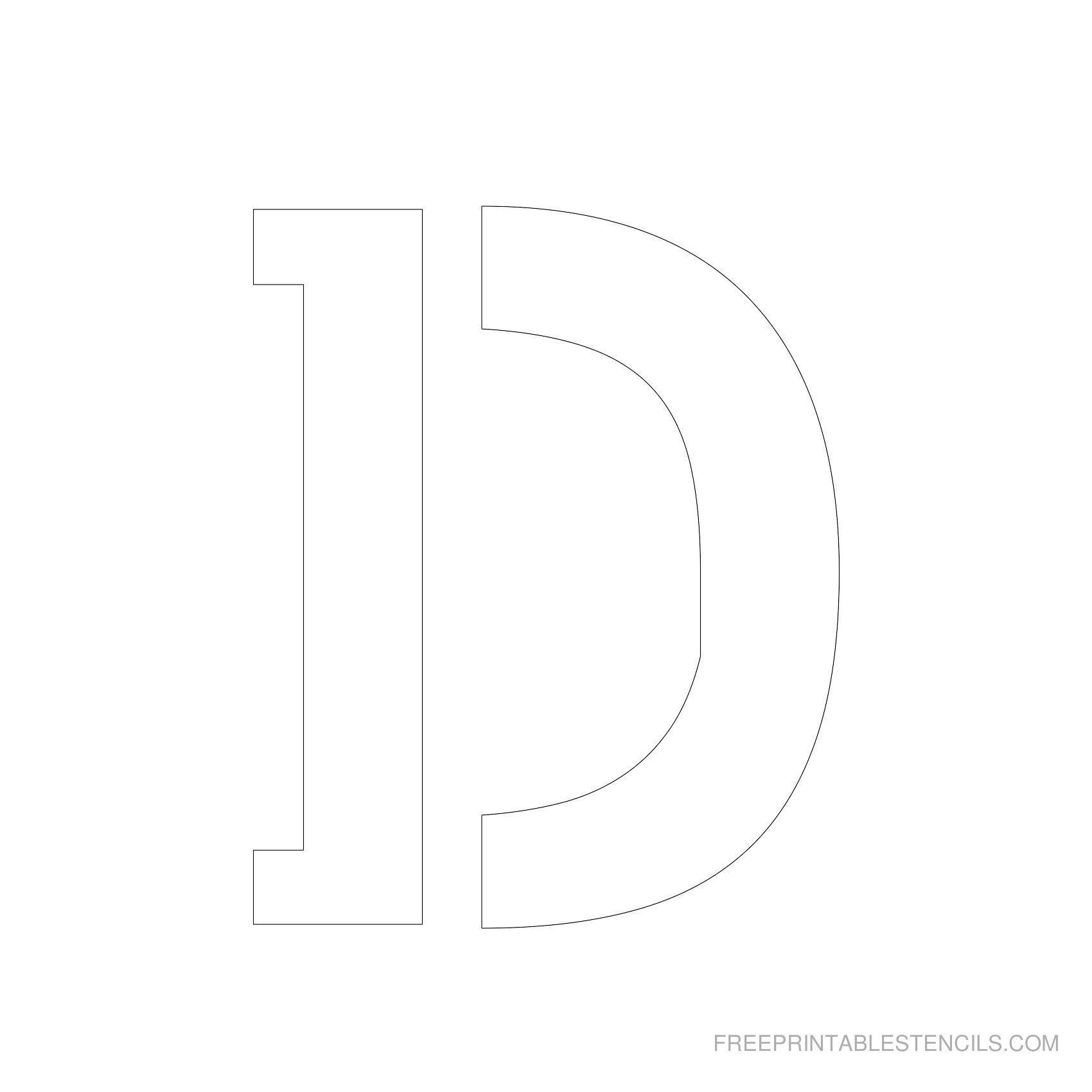 Printable 5 inch Letter Stencils | Lettering | Letter stencils
