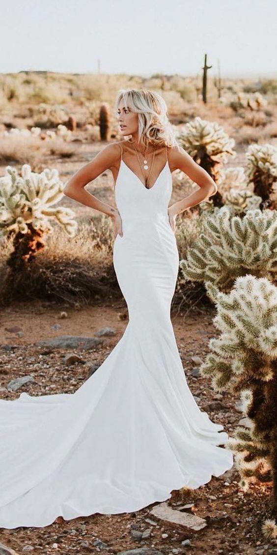 Photo of Mermaid Wedding Dresses 2017 >> Sexy Mermaid Wedding Dress, Spaghetti Straps Wedding Dress, L…