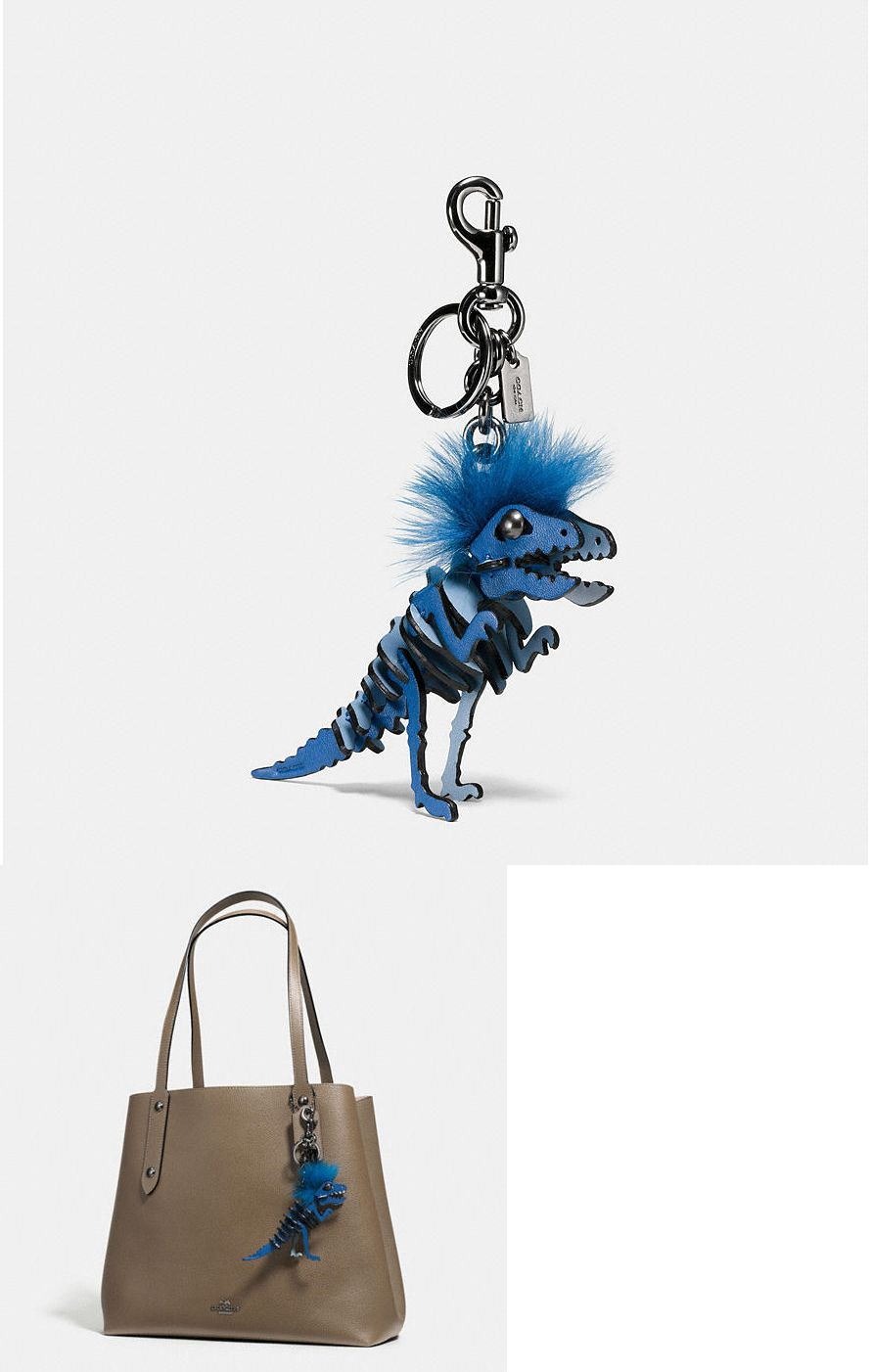35be16b061 Key Chains Rings and Finders 45237  New Coach 58499 Mohawk Rexy Dinosaur Leather  Bag Charm Key Chain Cornflower -  BUY IT NOW ONLY   149.99 on eBay!