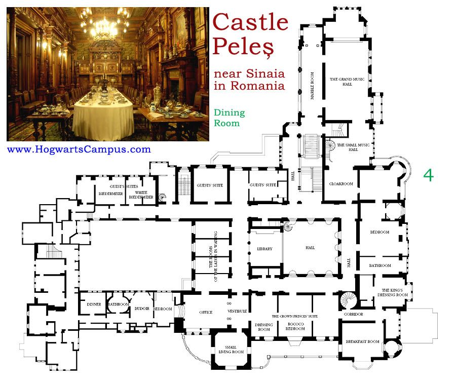 Castle Peles Second Floor Planos De Palacios En 2019