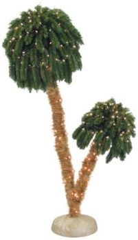 6-ft. Double Headed Palm Tree w/250 Lights in Spring Big ...