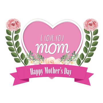 I Love You Mom Love Mom Happy Mothers Day Creative Flowers Leaf Leaves Vector Happy Mother Amp Amp 039 I Love You Mom Love You Mom Happy Birthday Art