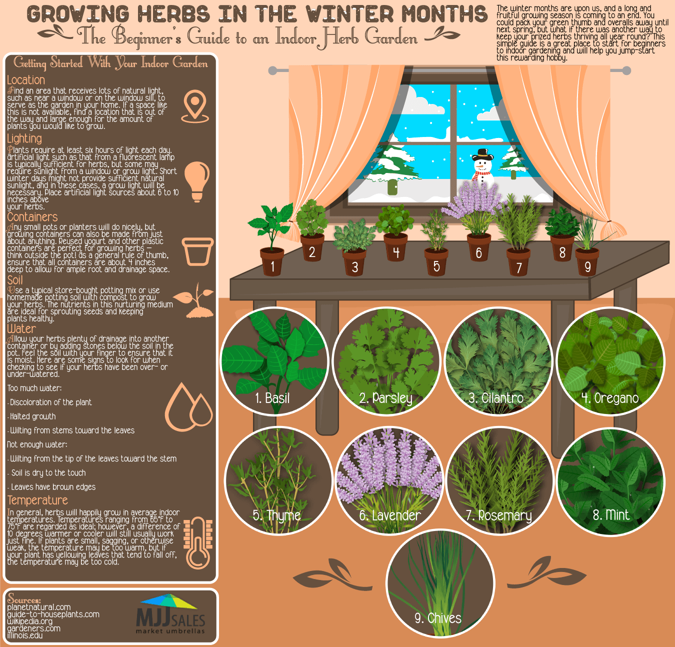 Growing Herbs in the Winter Months