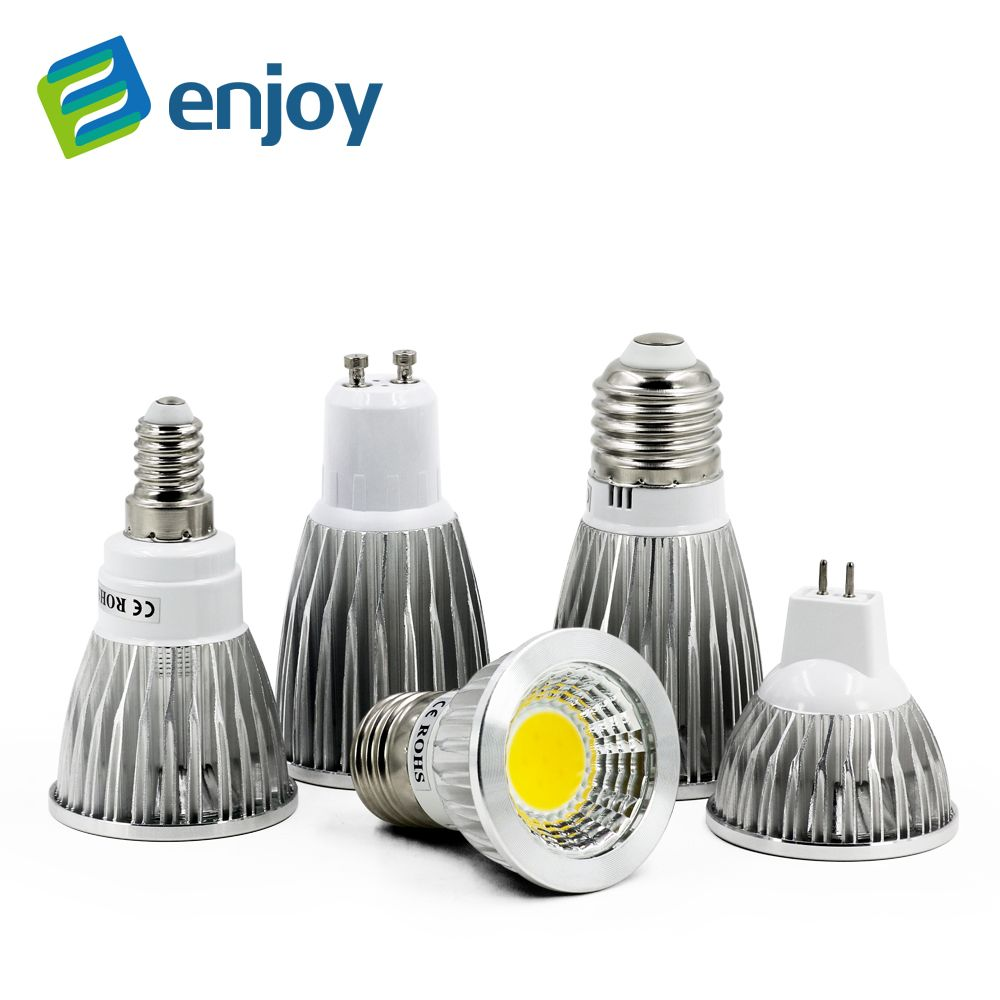 Cob Gu10 Gu5 3 E27 E14 Mr16 12 V Lampada Led Lampe 220 V 110 V 3 W 5 W 7 W Bombillas Led Spot Lamparas Led Ampoules Lumiere Led Spotlight Led Bulb Led Lamp
