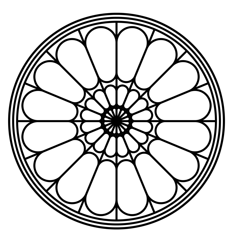 Simple Rose Window Pattern