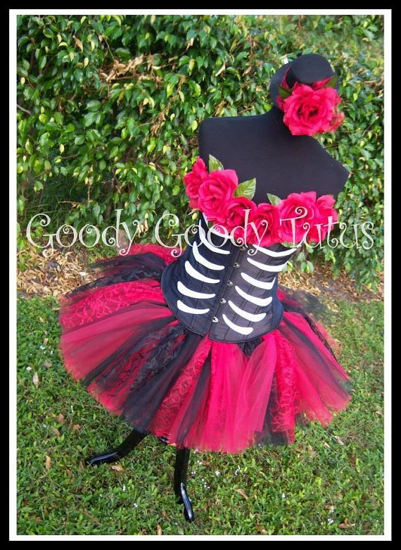 1ec24736dd3376 SUGAR SKULL QUEEN Day of the Dead Inspired Tutu and Corset Adult ...