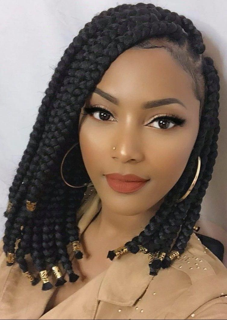 These Natural Hairstyles For Short Hair Truly Are Beautiful Naturalhairstylesforsho Girls Hairstyles Braids Box Braids Styling Black Girl Braided Hairstyles