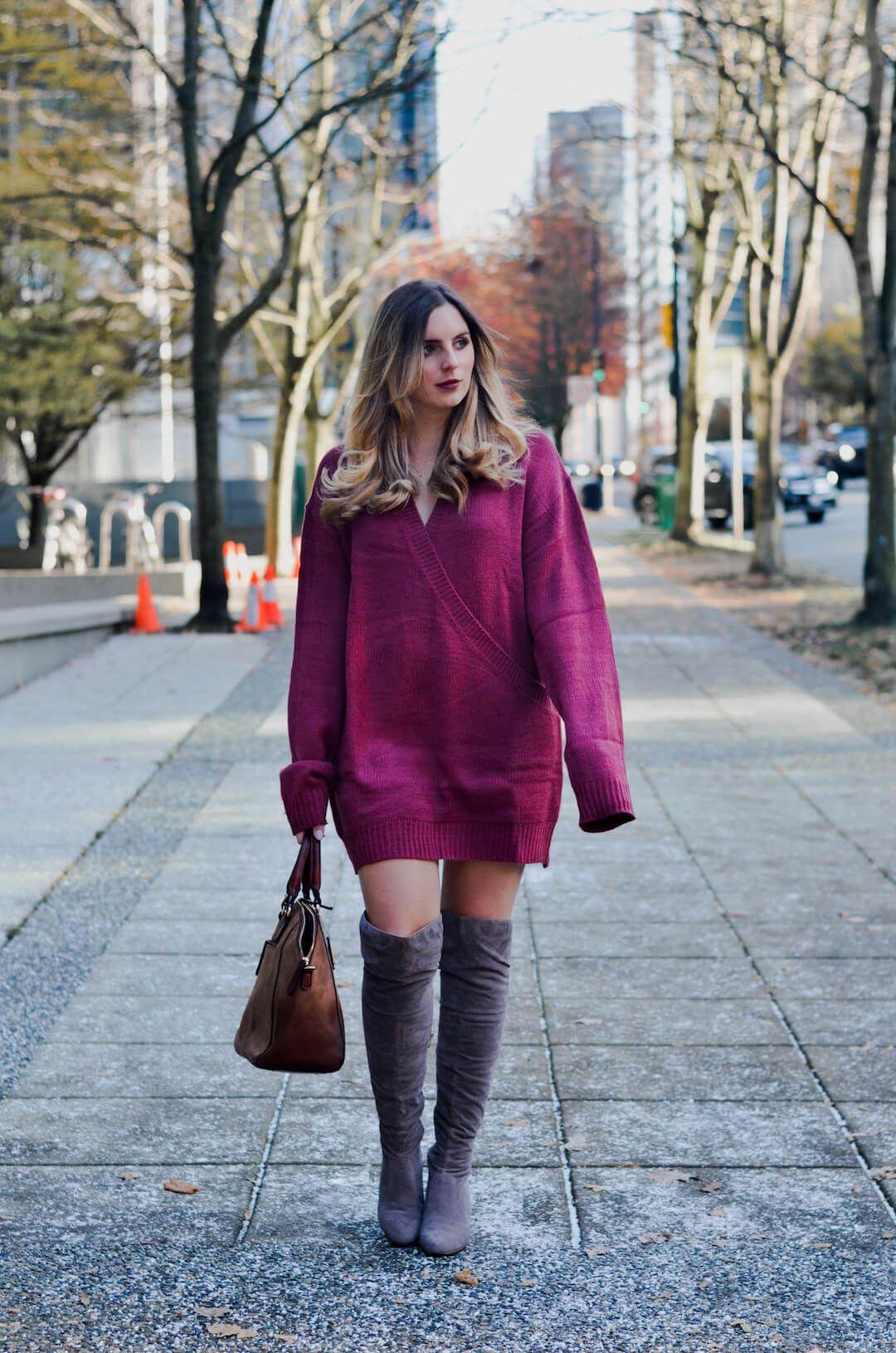 My Favourite Way to Style a Sweater Dress  8ac03f8e6