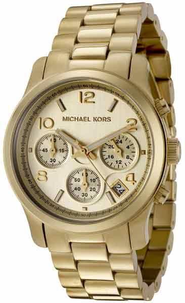 c19713114ca5 Michael Kors Women s MK5055 Midsized Chronograph Gold Tone Watch ...