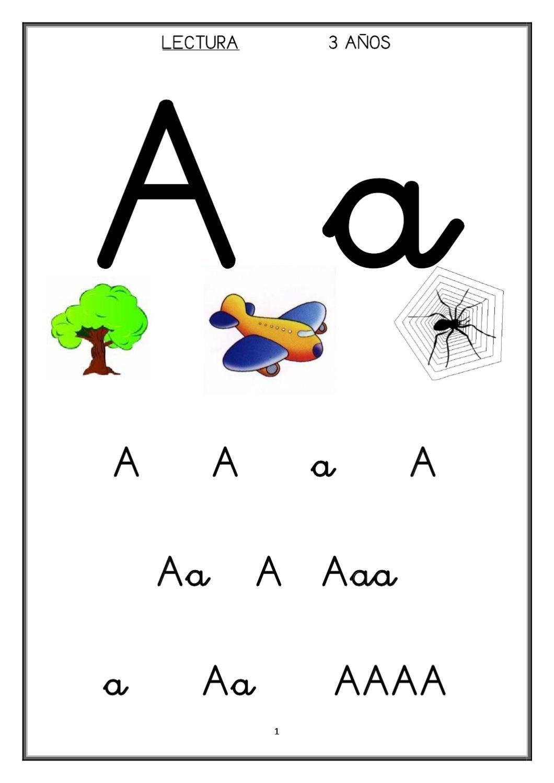 Cartilla de lectura 3-4-5 años | Cartilla Lectura 1 | Pinterest