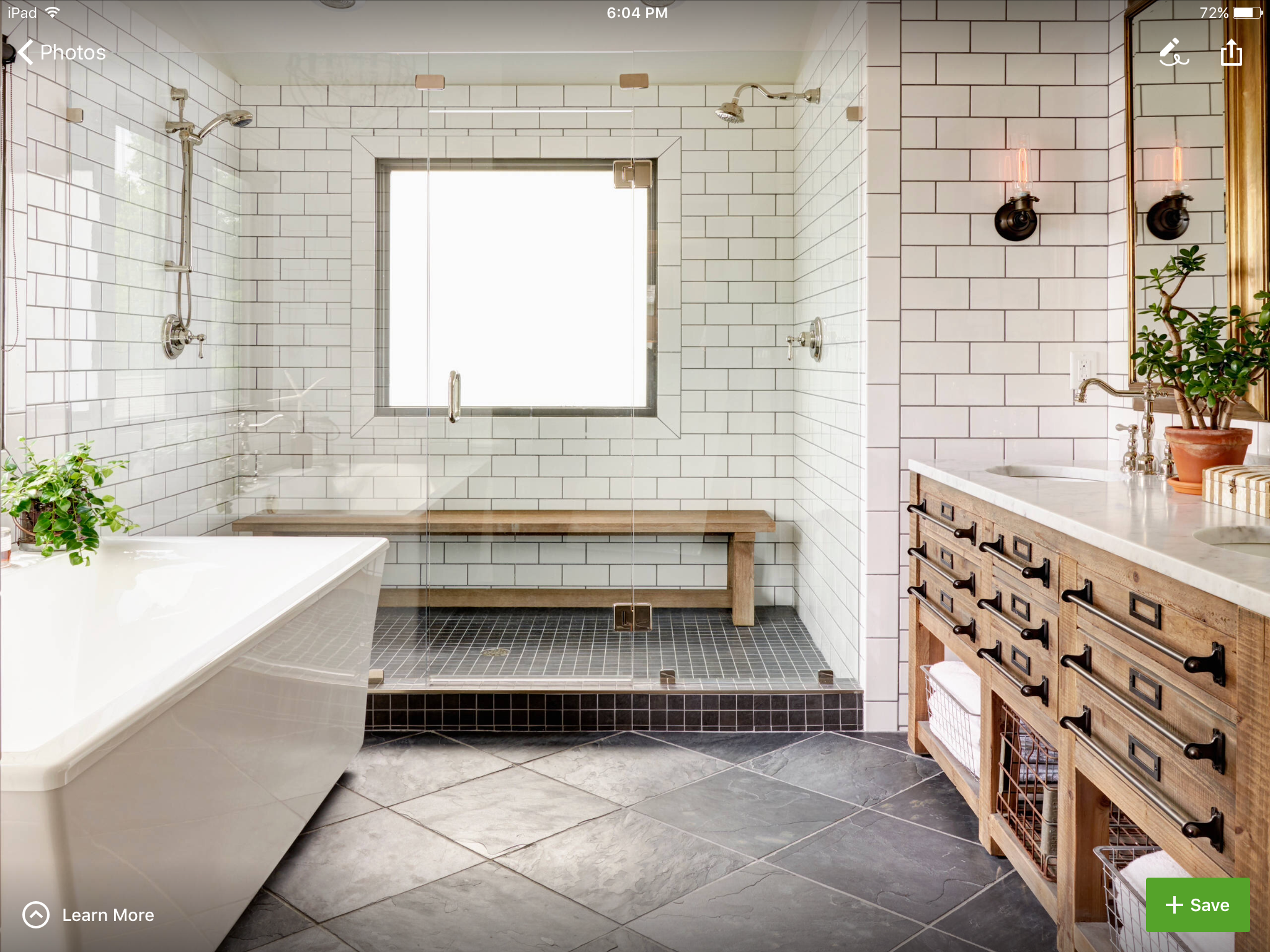 Image result for subway tile bathroom wood vanity | kids bathroom ...