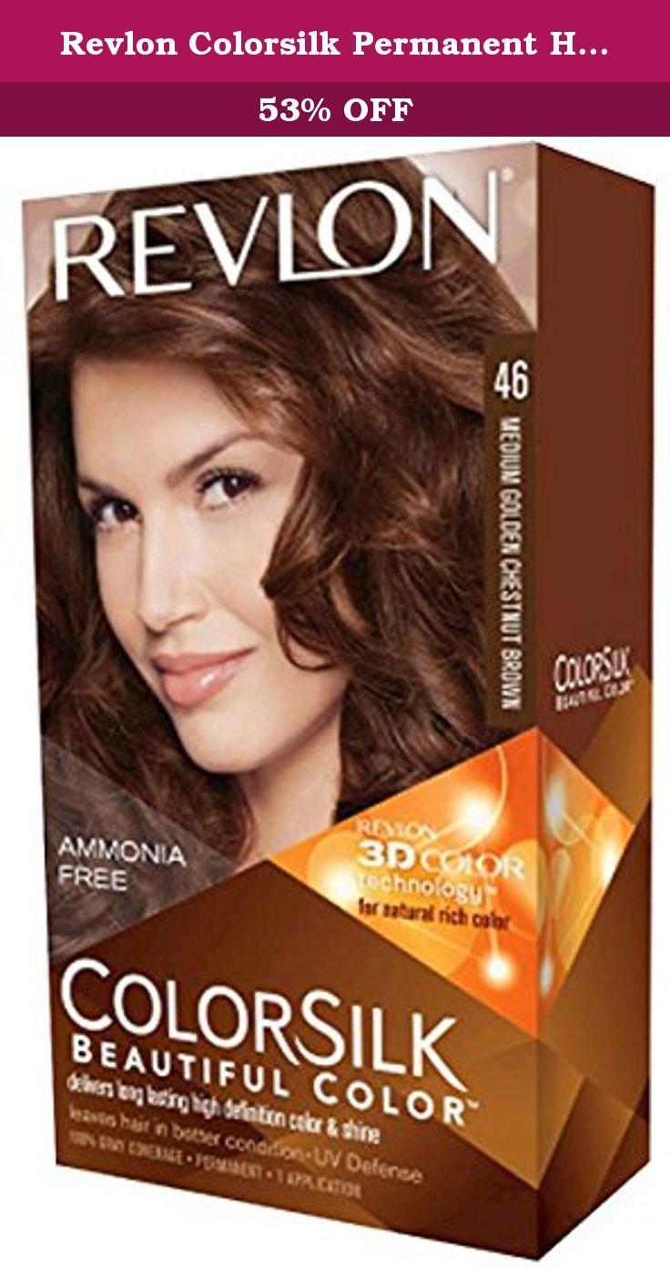 Revlon Colorsilk Permanent Hair Color Medium Golden Chestnut Brown 1 Count Revlon Colorsilk Radia Revlon Colorsilk Hair Color Revlon Colorsilk Revlon Color