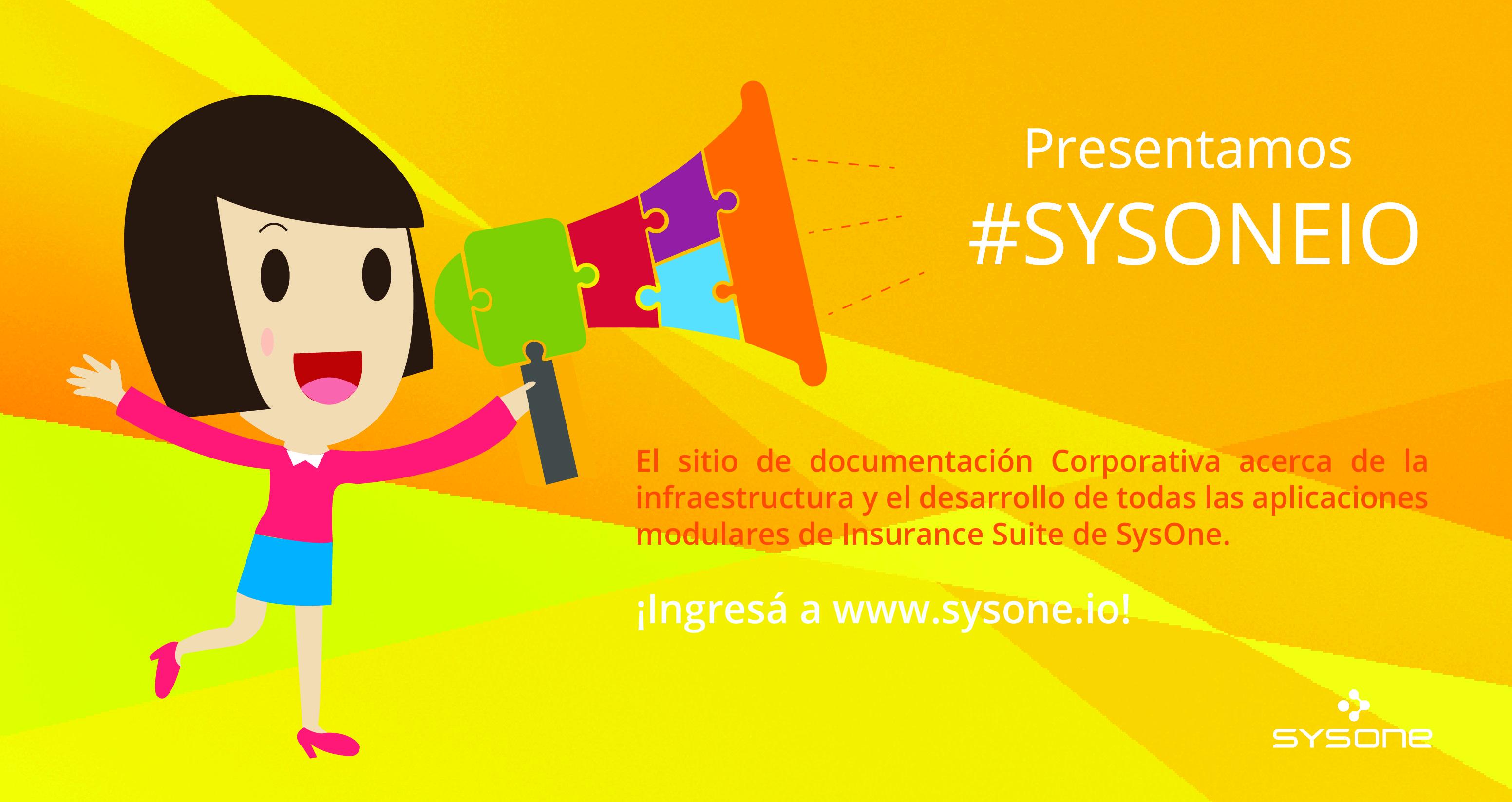 Te presentamos SYSONE IO, el nuevo sitio de documentación corporativa de SysOne!... Ingresá a http://www.sysone.io/ e informate!!...