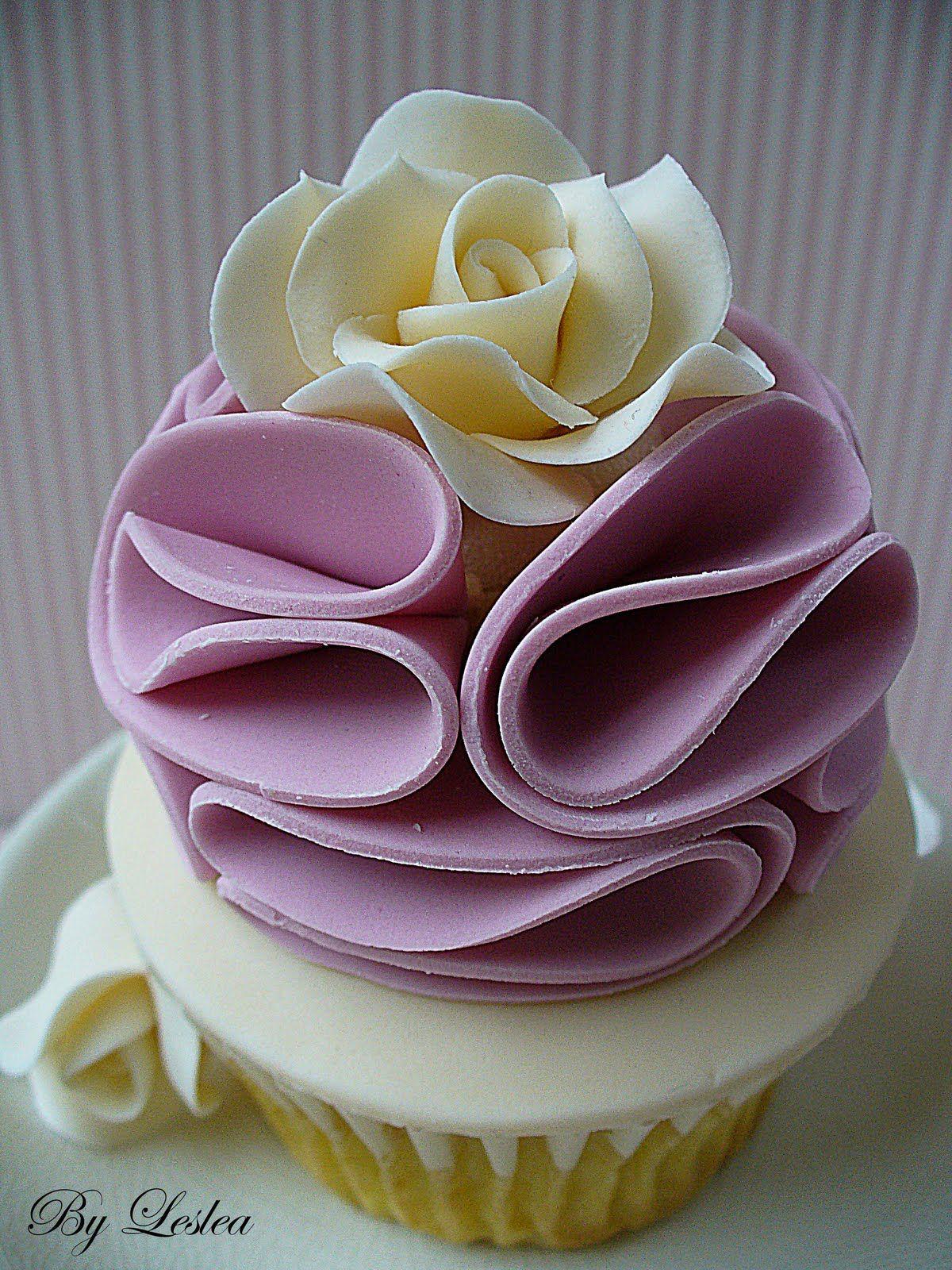 Beautiful ruffled cupcake