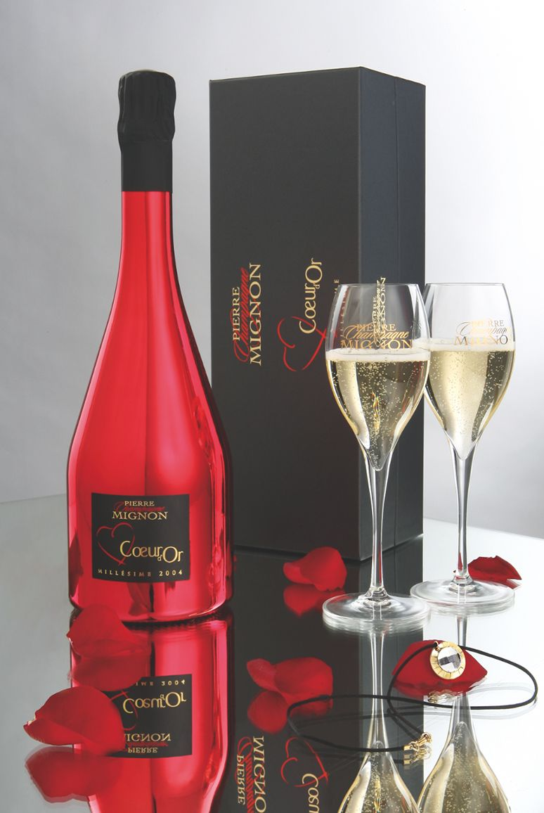 3 Champagne Mignon Saint Valentin Wine Bottle Sparkling Wine Wine And Spirits