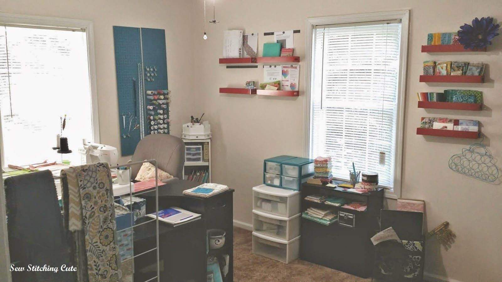 Sewing Room Upgrade and Bedroom Downgrade: Sew Stitching Cute - Quilt Blog