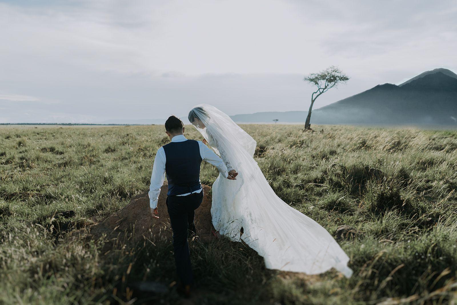 Elopement in Masai Mara, Kenya / Kenya Wedding Photographer / Kenya Wedding Film
