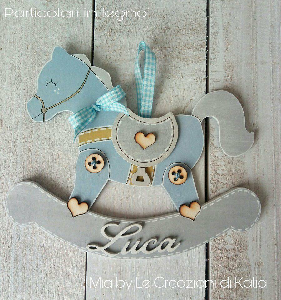 Fiocco nascita cavallo a dondolo, by Mia by Le Creazioni di Katia, 22,00 € su misshobby.com