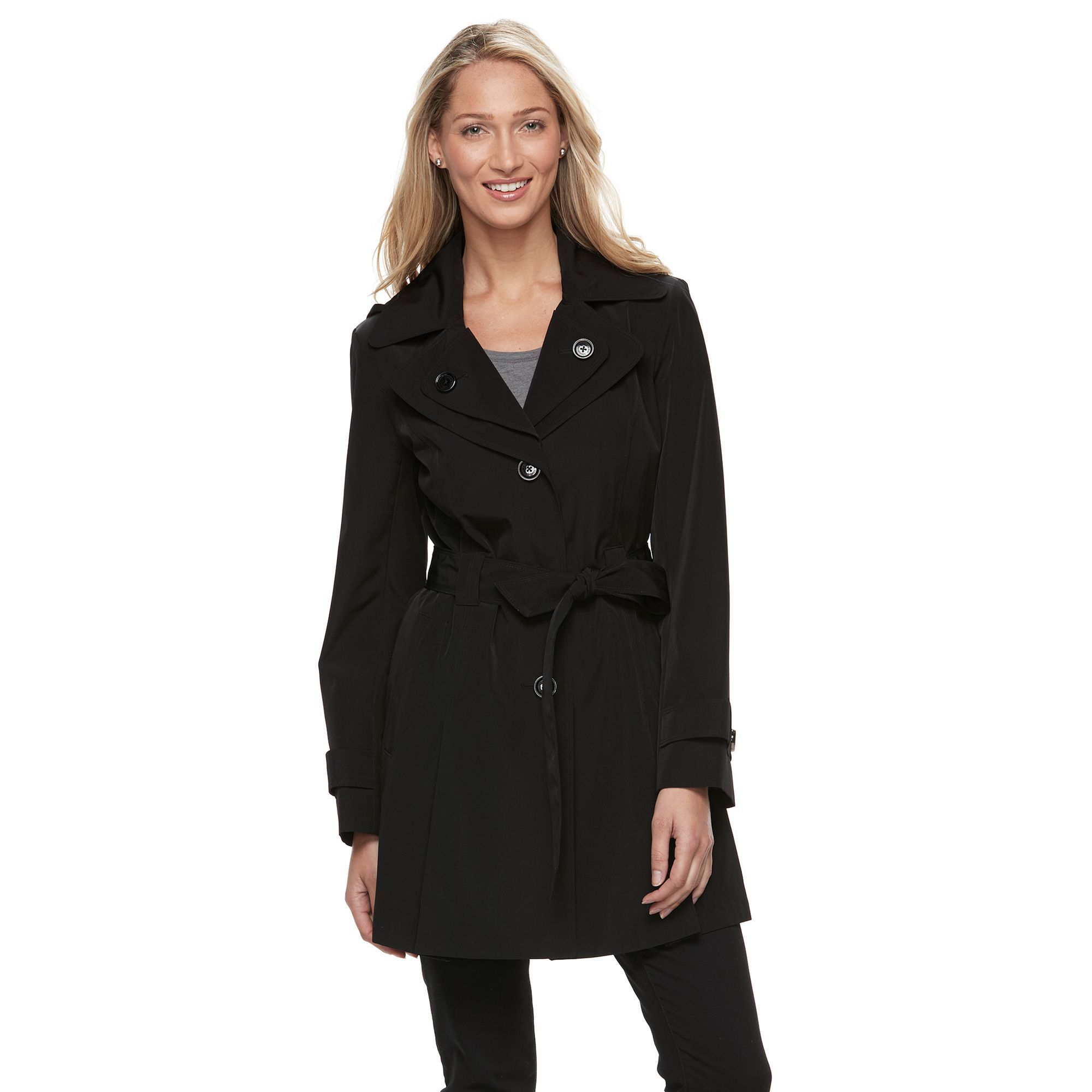 959bc7242 Women's Towne by London Fog Hooded Trench Coat | Products | Hooded ...