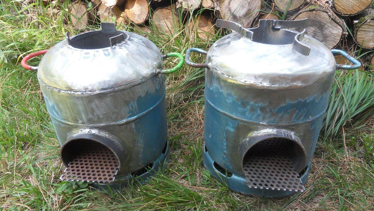 Rocket stove avec une bouteille de gaz solutions - Fabriquer un chauffe eau piscine bois ...