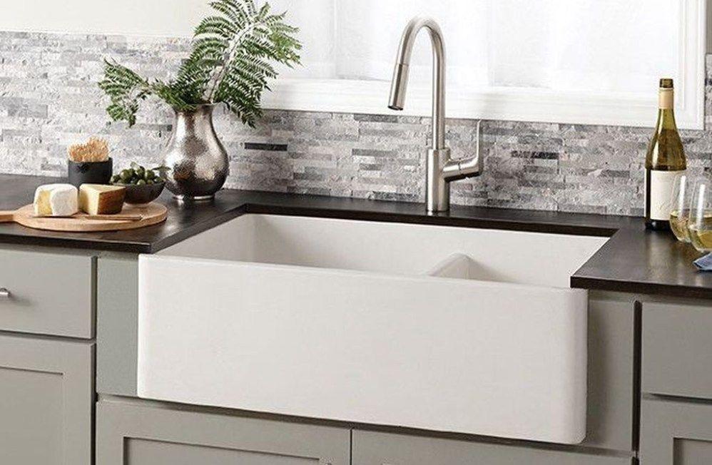 Stunning Kohler Farmhouse Sink Ideas To Improve Your Kitchen 30 Farmhouse Sink Kitchen Apron Front Kitchen Sink Kohler Farmhouse Sink