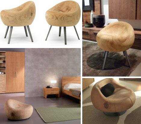 Wood Log Chairs & Wood Log Chairs | Random | Pinterest | Log chairs and Woods