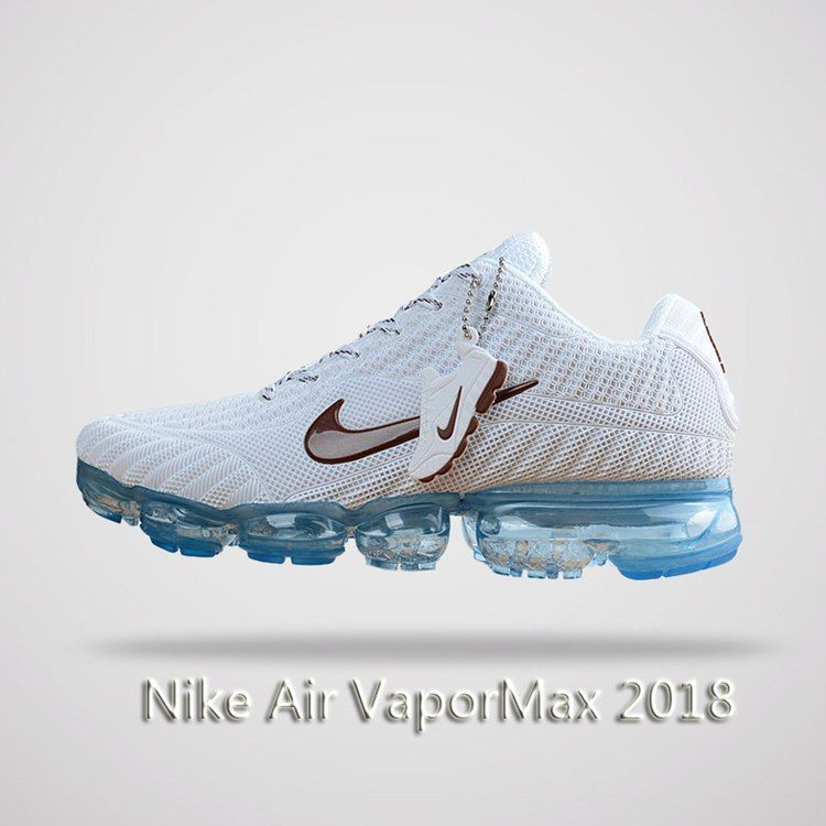 Nike Air Vapormax 2018 Men Running Shoes White Blue
