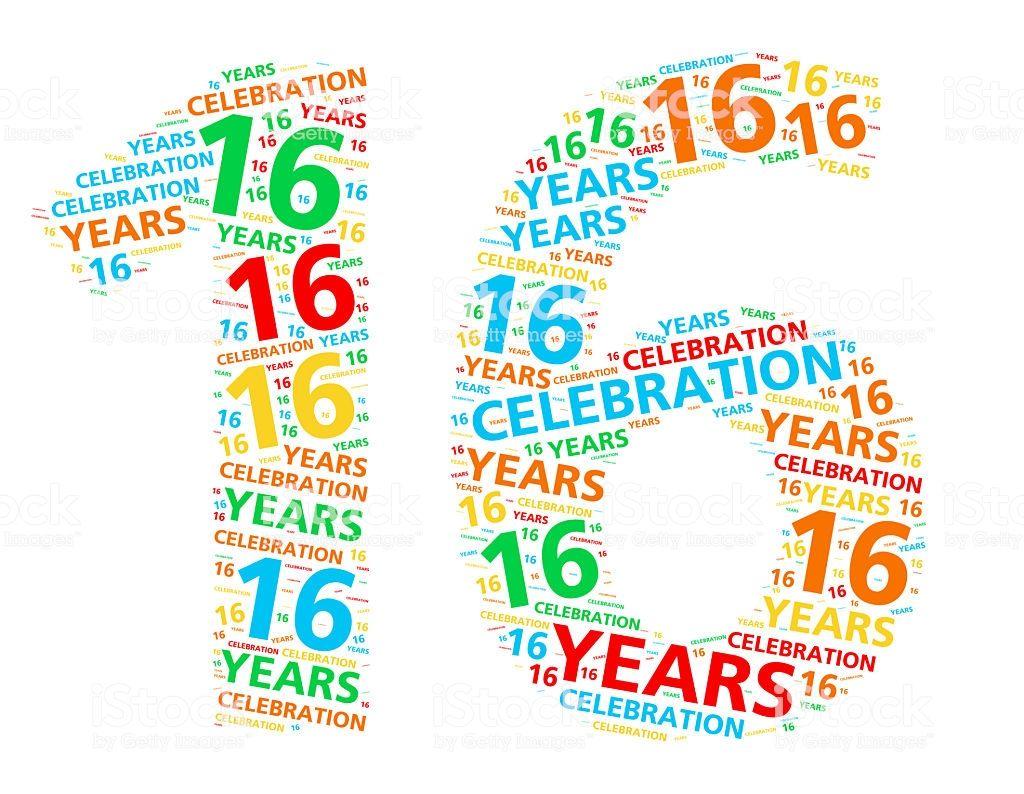 Vektor 16 Alles Gute Geburtstag Feier Mit Gold Luftballone